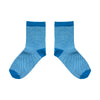 Waffle Blue Ankle Socks - MAiK sustainably sourced, ethically produced.