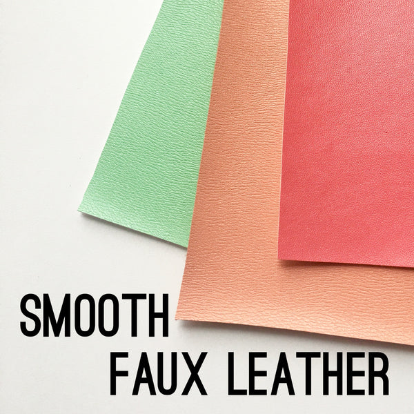 Smooth Solid Faux Leather