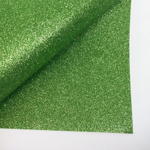 Light Green Glitter 100% Wool Felt - 9.5x12""