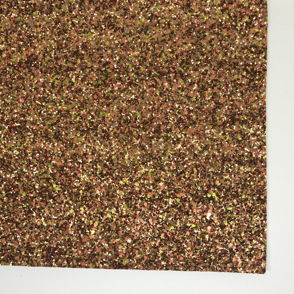 Autumn Leaves Matte Glitter Fabric Sheet