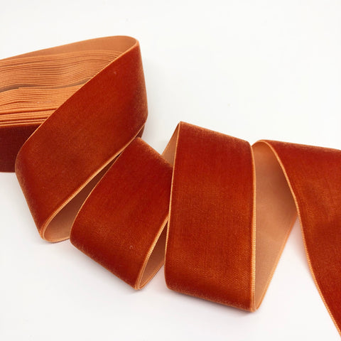Rust Velvet Ribbon - 1 and a Half Inch