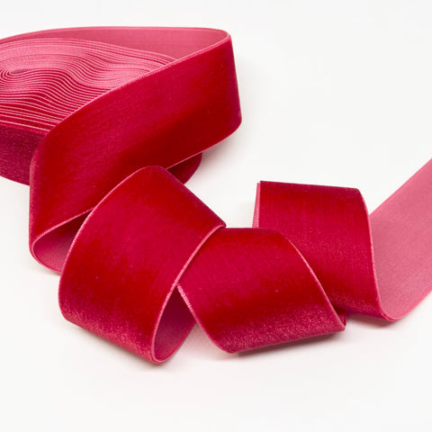 Cherry Velvet Ribbon - 1 and a Half Inch