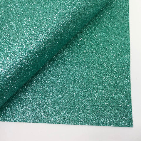 Light Emerald Glitter 100% Wool Felt - 9.5x12""