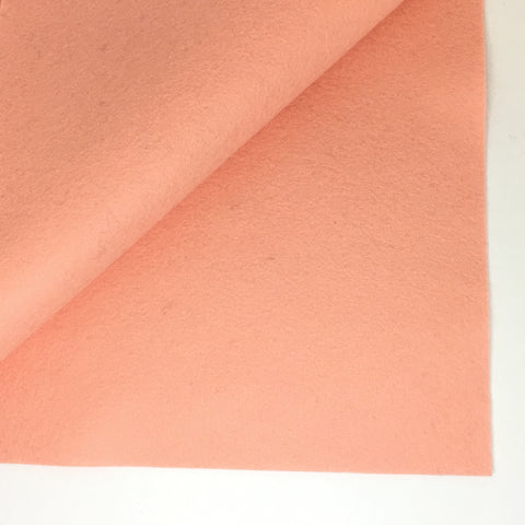 French Peach 100% Wool Felt - 8x12""