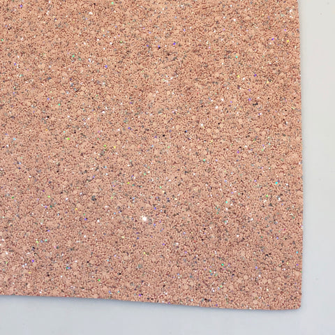 Nearly Nude Premium Glitter Fabric Sheet