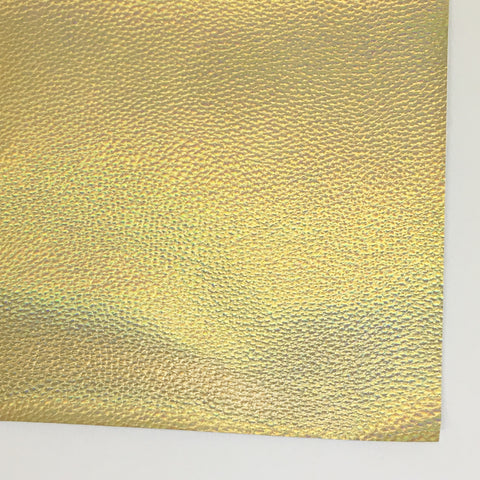 Gold Opalescent Textured Faux Leather
