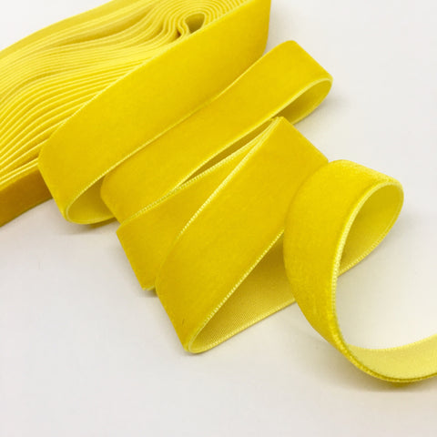 Sunshine Velvet Ribbon - 3/4 inch