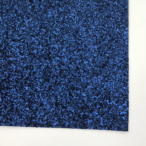 Cobalt Matte Glitter Fabric Sheet