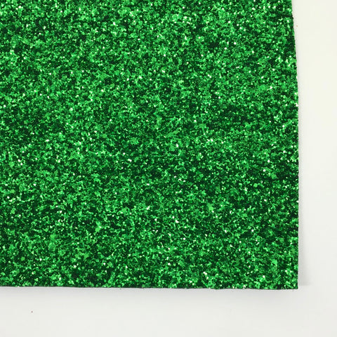 Green Matte Glitter Fabric Sheet