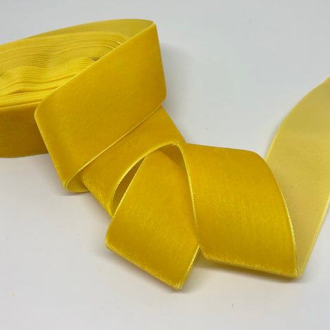 Sunshine Velvet Ribbon - 1 and a Half Inch