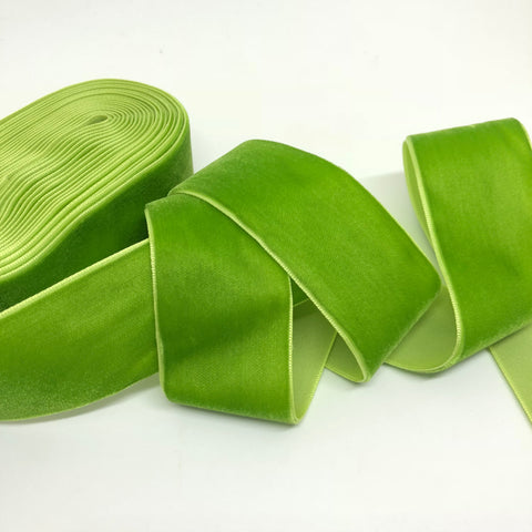 Lime Velvet Ribbon - 1 and a Half Inch