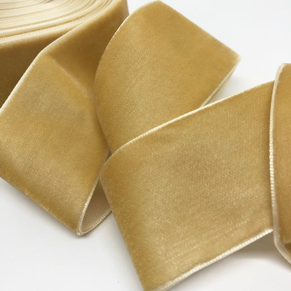Biscotti Velvet Ribbon - 1 and a Half Inch