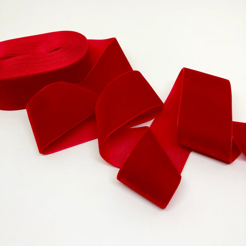 True Red Velvet Ribbon - 1 and a Half Inch