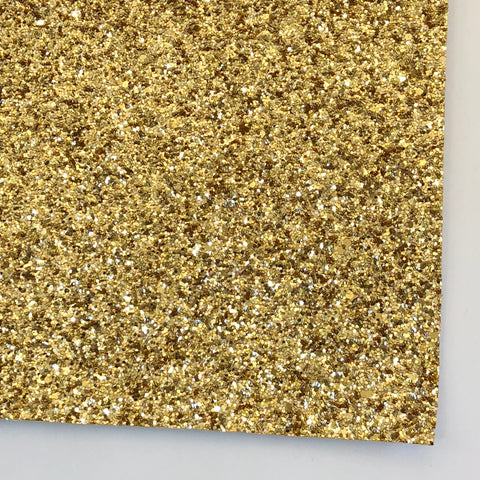 Yellow Gold Premium Glitter Fabric Sheet