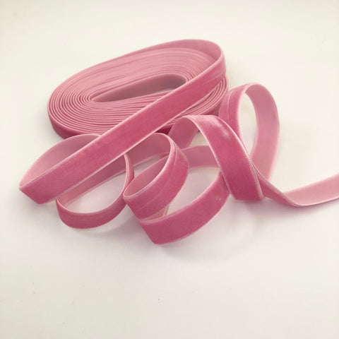 Bubblegum Velvet Ribbon - 1/2 inch