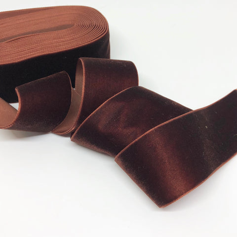 Chocolate Velvet Ribbon - 1 and a Half Inch
