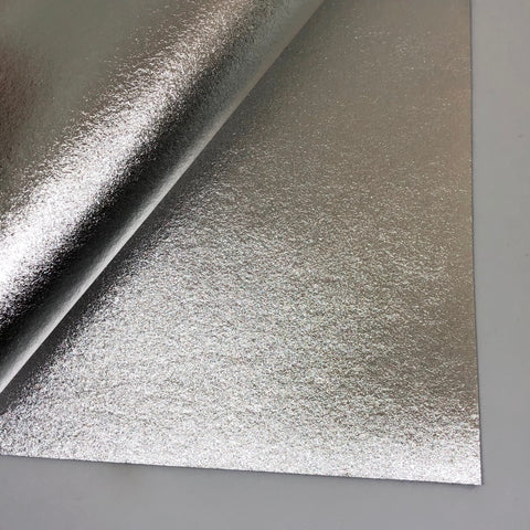 Silver Metallic 100% Wool Felt - 9.5x12""