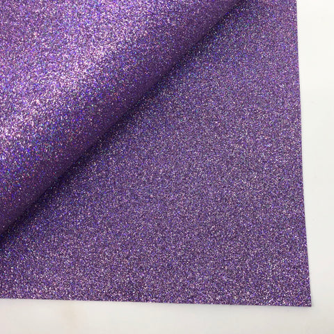Purple Iris Glitter 100% Wool Felt - 9.5x12""