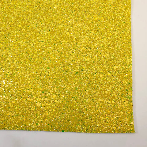 Lemon Squeeze Specialty Glitter Fabric Sheet