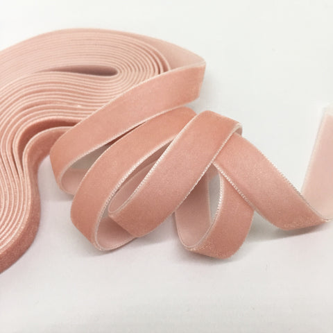 Blush Velvet Ribbon - 1/2 inch