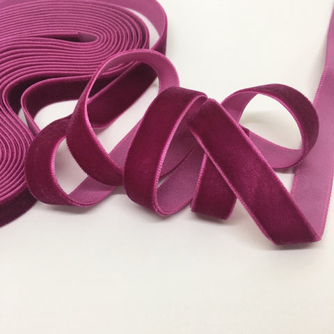 Berry Velvet Ribbon - 1/2 inch