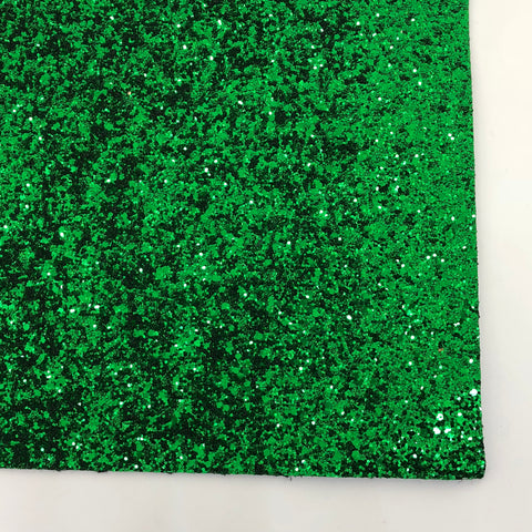 Green Premium Glitter Fabric Sheet - TWILL BACKING