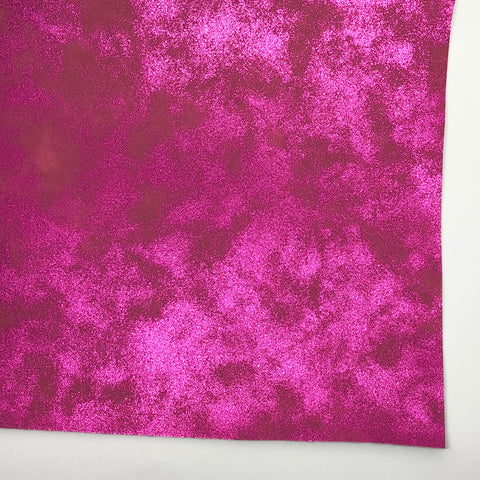 Magenta Metallic Patina Faux Leather