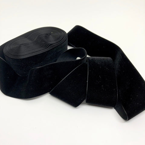 Black Velvet Ribbon - 1 and a Half Inch
