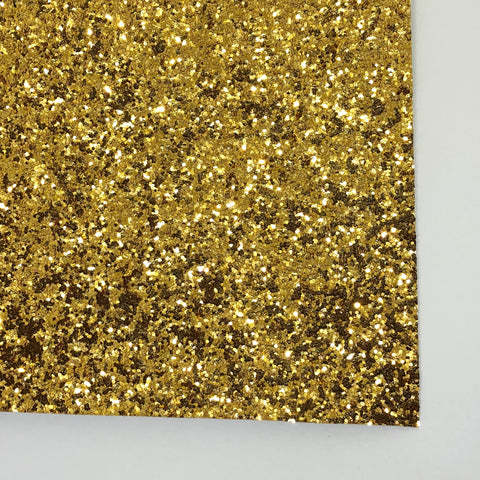 Yellow Gold Specialty Glitter Fabric Sheet