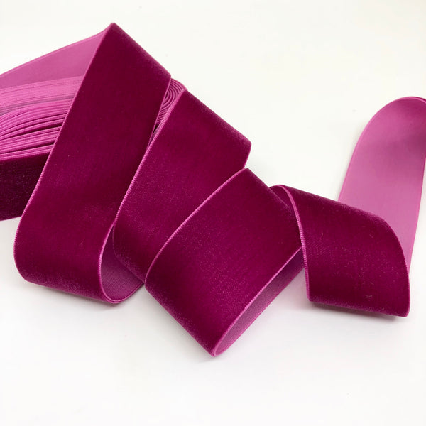 Berry Velvet Ribbon - 1 and a Half Inch