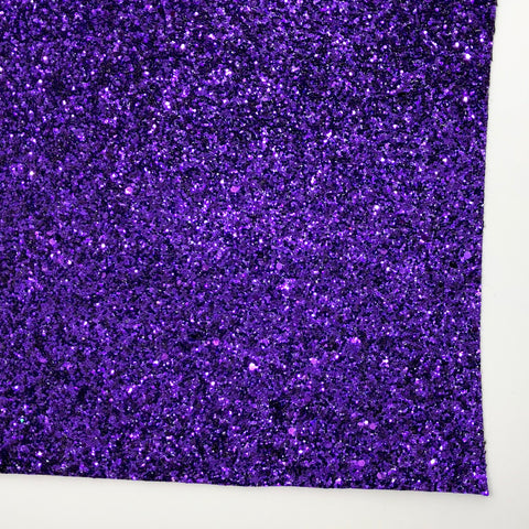 True Purple Premium Chunky Glitter Fabric Sheet