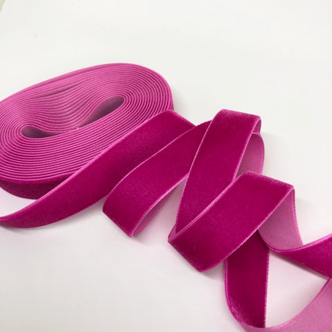 Rose Velvet Ribbon - 3/4 inch