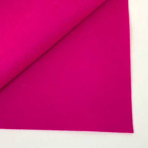 Shocking Pink 100% Wool Felt - 8x12""