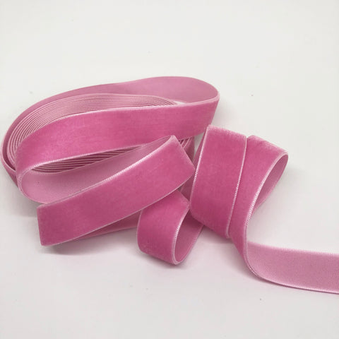 Bubblegum Velvet Ribbon - 3/4 inch