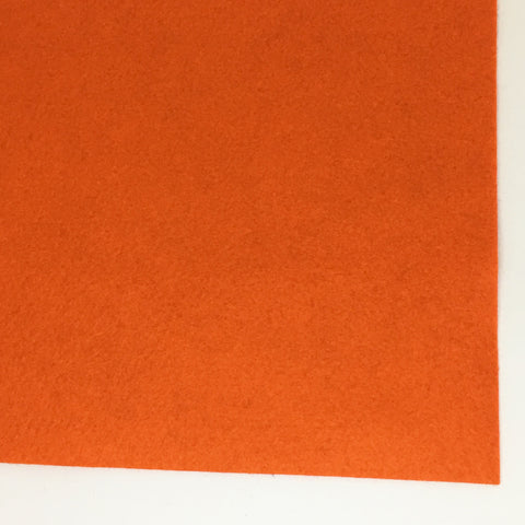 Dark Orange Wool Blend Felt