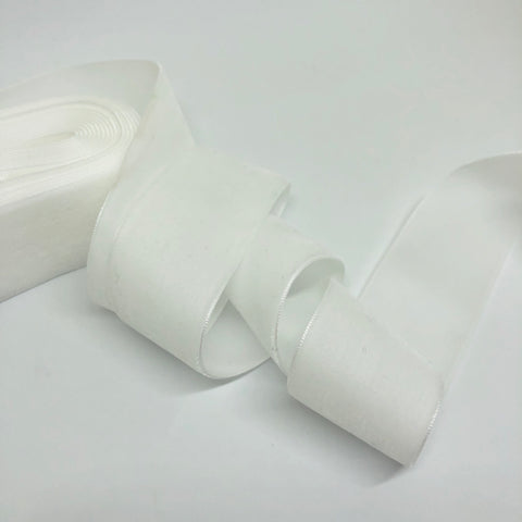 Soft White Velvet Ribbon - 1 and a Half Inch