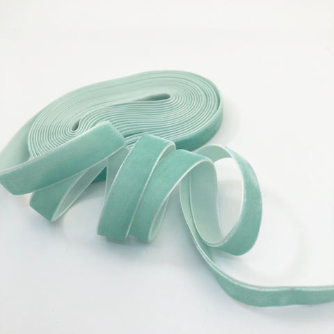 Mint Velvet Ribbon - 1/2 inch