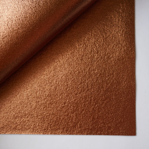Bronze Metallic 100% Wool Felt - 9.5x12""