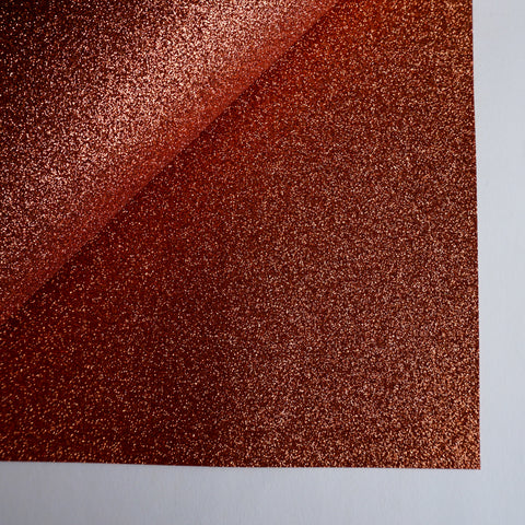 Copper Glitter 100% Wool Felt - 9.5x12""