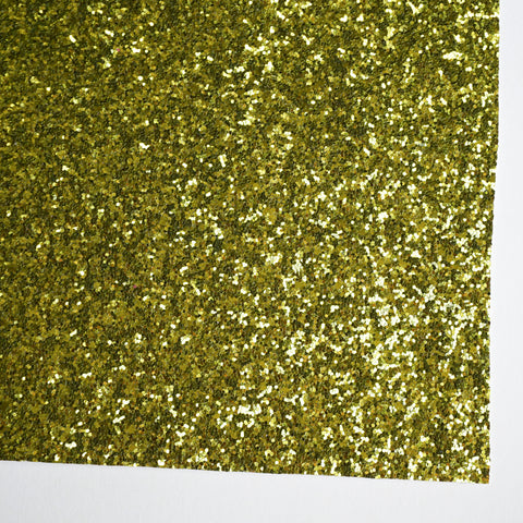Chartreuse Premium Glitter Fabric Sheet - TWILL BACKING