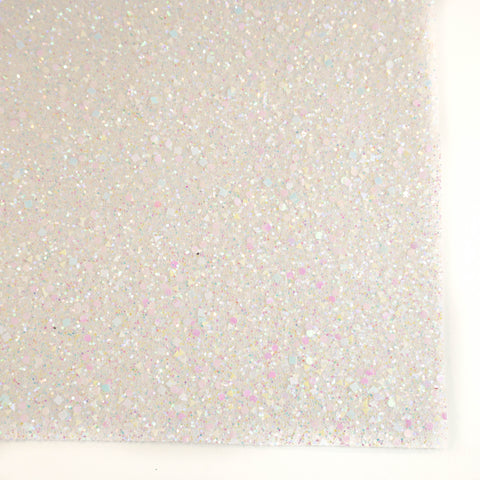 White Celebration Specialty Glitter Fabric Sheet