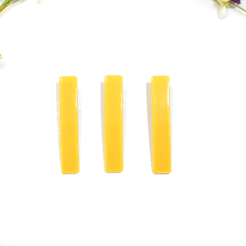 Mustard Rectangle Acrylic Hair Clip