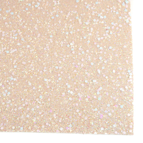 Ivory Celebration Specialty Glitter Fabric Sheet