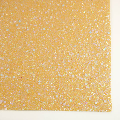 Goldenrod Celebration Specialty Glitter Fabric Sheet