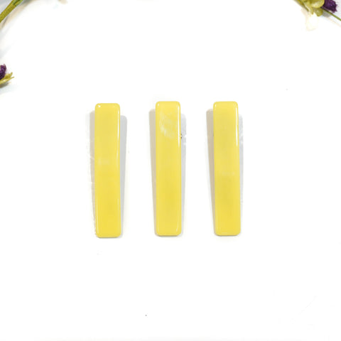 Yellow Rectangle Acrylic Hair Clip