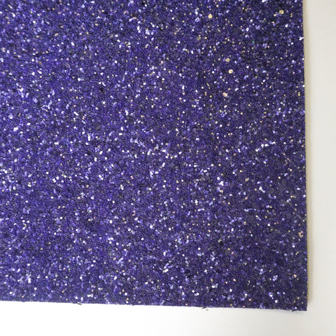 Indigo Glass Premium Glitter Fabric Sheet