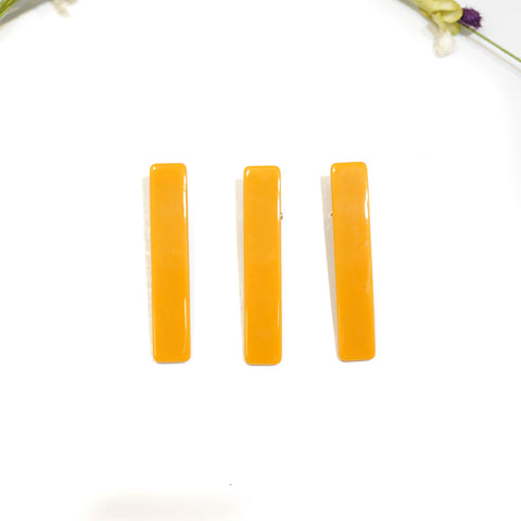 Goldenrod Rectangle Acrylic Hair Clip