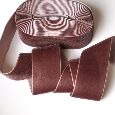 Mink Velvet Ribbon - 1 and a Half Inch