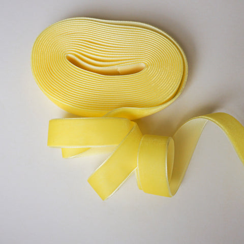 Banana Velvet Ribbon - 3/4 inch