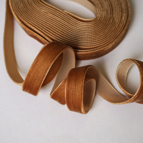 Ginger Velvet Ribbon - 1/2 inch